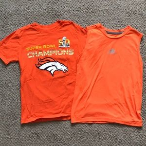 Denver Broncos tee and tank combo